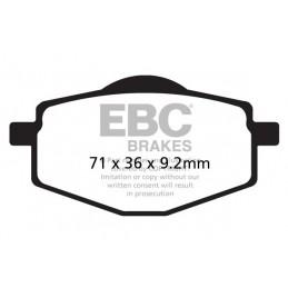 Brzdové platničky EBC FA101R