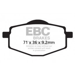 Brzdové platničky EBC FA101TT