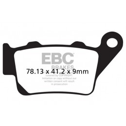 Brzdové platničky EBC FA208R