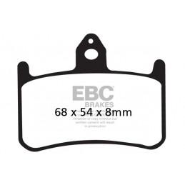 Brzdové platničky EBC EPFA187HH