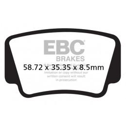Brzdové platničky EBC FA463R