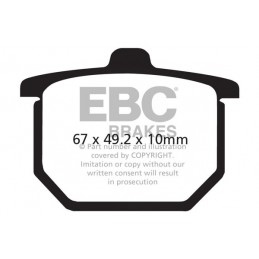 Brzdové platničky EBC FA030
