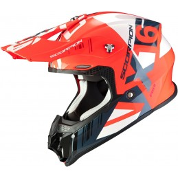 Prilba SCORPION EXO VX-16 Air Mach red silver
