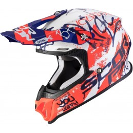 Prilba SCORPION EXO VX-16 Air Oratio white blue red