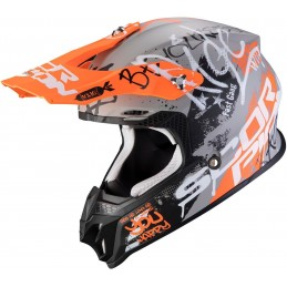 Prilba SCORPION EXO VX-16 Air Oratio grey orange