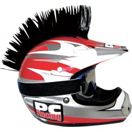 Číro na moto prilbu PC RACING Mohawk black