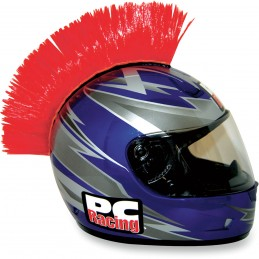 Číro na moto prilbu PC RACING Mohawk red