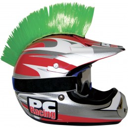 Číro na moto prilbu PC RACING Mohawk green