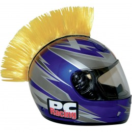 Číro na moto prilbu PC RACING Mohawk yellow