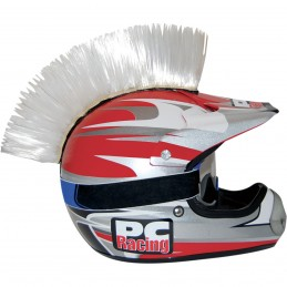 Číro na moto prilbu PC RACING Mohawk white