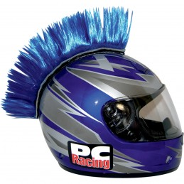 Číro na moto prilbu PC RACING Mohawk blue
