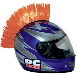 Číro na moto prilbu PC RACING Mohawk orange