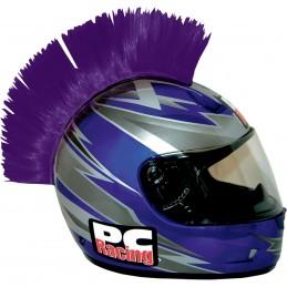 Číro na moto prilbu PC RACING Mohawk purple