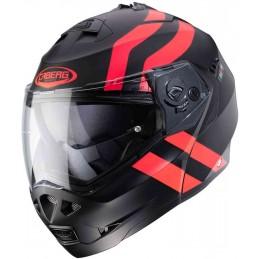 Prilba na moto CABERG Duke II Superlegend black/red