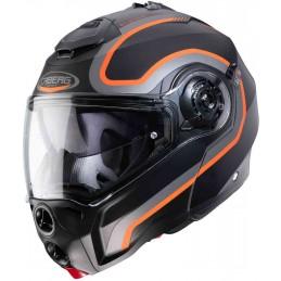 Prilba na moto CABERG Droid Pure matt black/orange