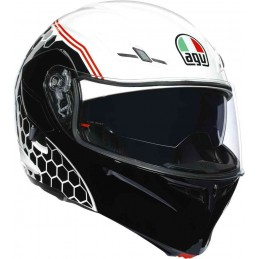 Prilba na moto AGV Compact ST Detriot white black
