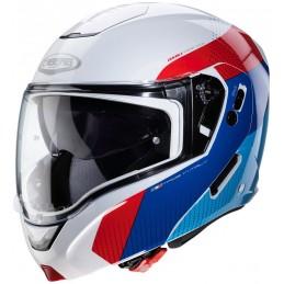 Prilba na moto CABERG Horus white/blue/red