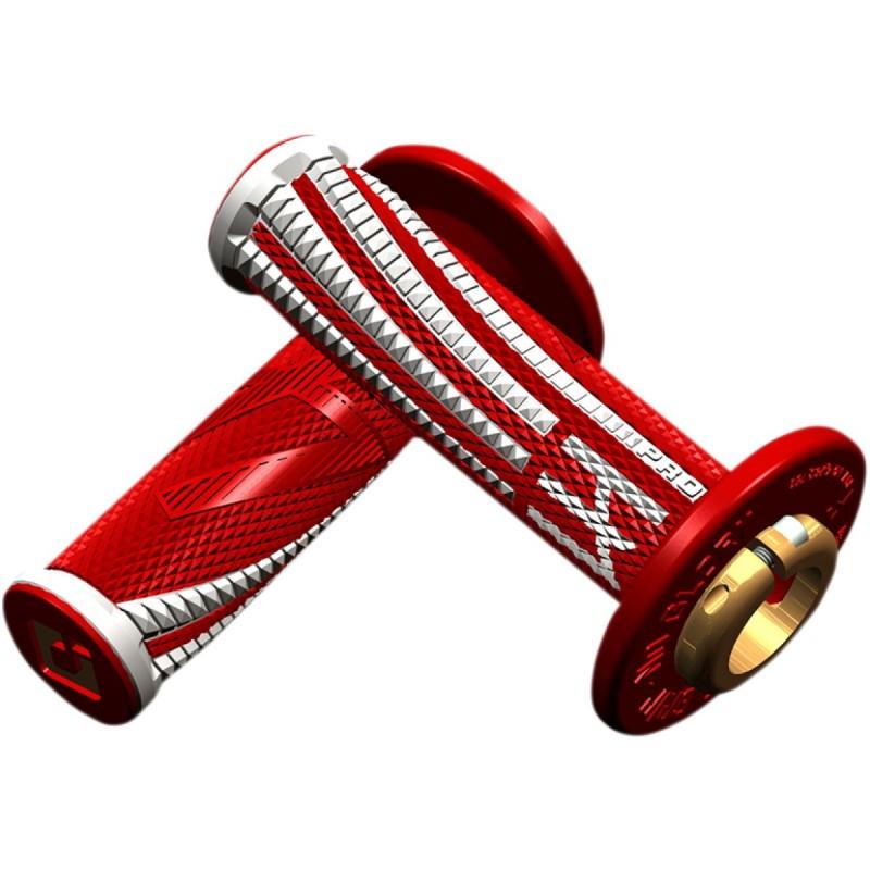 Gripy ODl EMIG Pro V2 lock-on soft červeno-biele