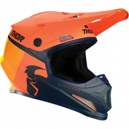 Prilba na moto THOR Sector Racer orange/yellow