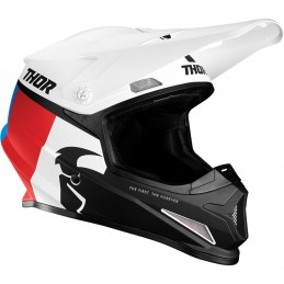 Prilba na moto THOR Sector Racer white/blue/red