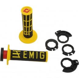 Gripy ODl  EMIG racing V2 s polovičnými mriežkami čierno-žlté