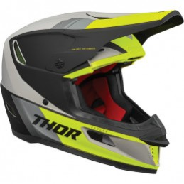Prilba na moto THOR Reflex ECE gray/Fluorescent Green