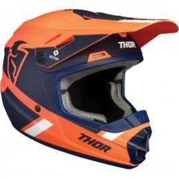 Detská prilba na moto THOR Sector Split orange/blue