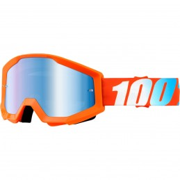 MX okuliare 100% Strata mirror orange