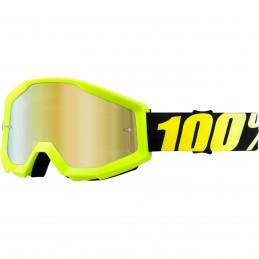 MX okuliare 100% Strata mirror yellow