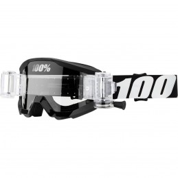 MX okuliare 100% Strata detské clear black/white