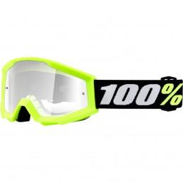 MX okuliare 100% Strata mini clear yellow