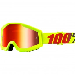 MX okuliare 100% Strata Mercury mirror yellow/red