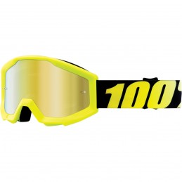 MX okuliare 100% Strata mirror detské yellow