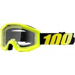 MX okuliare 100% Strata clear detské yellow
