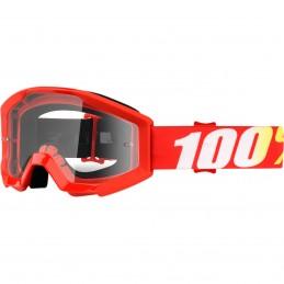 MX okuliare 100% Strata Furnace clear detské red