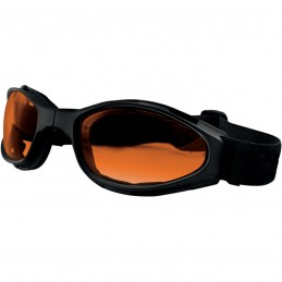 Okuliare na motorku BOBSTER crossfire foldable amber