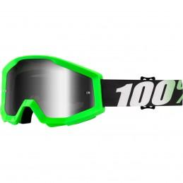 MX okuliare 100% Strata Arkon mirror green