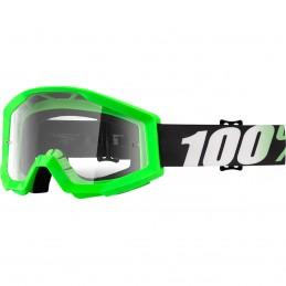 MX okuliare 100% Strata Arkon clear green