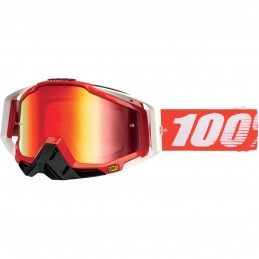 MX okuliare 100% Racecraft fire mirror red