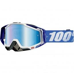 MX okuliare 100% Racecraft Cobalt mirror blue