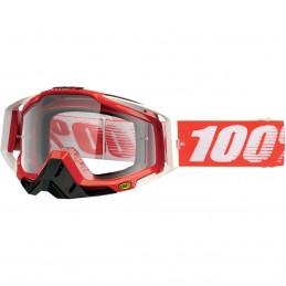 MX okuliare 100% Racecraft Cobalt clear red
