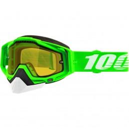MX okuliare 100% Racecraft snow ORG2 mirror green