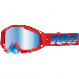 MX okuliare 100% Racecraft snow mirror red