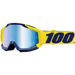 MX okuliare 100% Racecraft Supply mirror blue