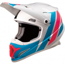 Prilba na moto Z1R Riseevac white pink blue