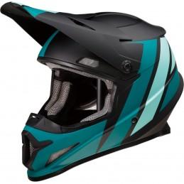 Prilba na moto Z1R Riseevac black teal