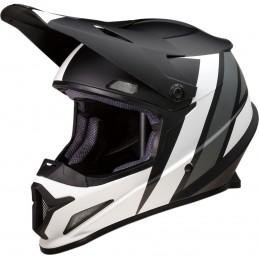 Prilba na moto Z1R Riseevac black white grey