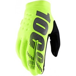 Detské rukavice 100% BRISKER  FLO YELLOW/BLACK