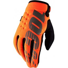 Detské rukavice 100% BRISKER ORANGE/BLACK