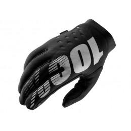 Dámske rukavice 100% BRISKER BLACK/GRAY